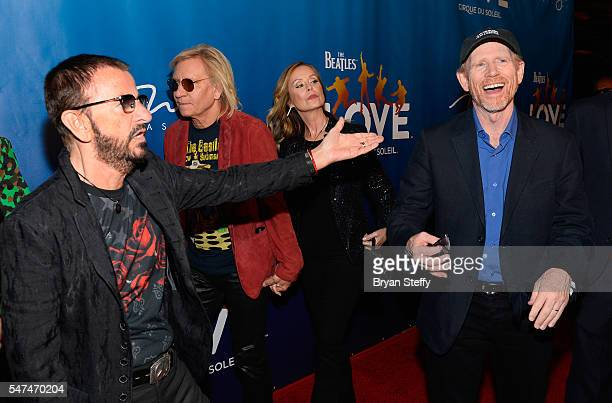 Musician Ringo Starr and director/producer Ron Howard attend the 10th anniversary celebration of 'The Beatles LOVE by Cirque du Soleil' at the Mirage...