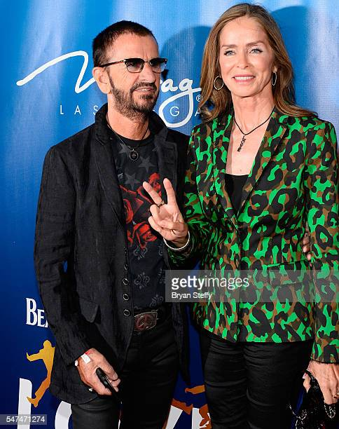 Musician Ringo Starr and his wife actress Barbara Bach attend the 10th anniversary celebration of 'The Beatles LOVE by Cirque du Soleil' at the...