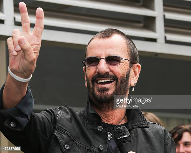 Musician Ringo Starr attends his birthday fan gathering on July 7 2015 in Hollywood California