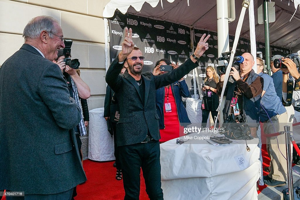 Musician Ringo Starr attends the 30th Annual Rock And Roll Hall Of Fame Induction Ceremony at Public Hall on April 18, 2015 in Cleveland, Ohio.