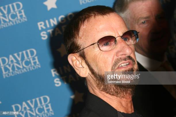 Musician Ringo Starr attends the David Lynch Foundation honors Ringo Starr with the 'Lifetime Of Peace Love Award' held at the El Rey Theatre on...