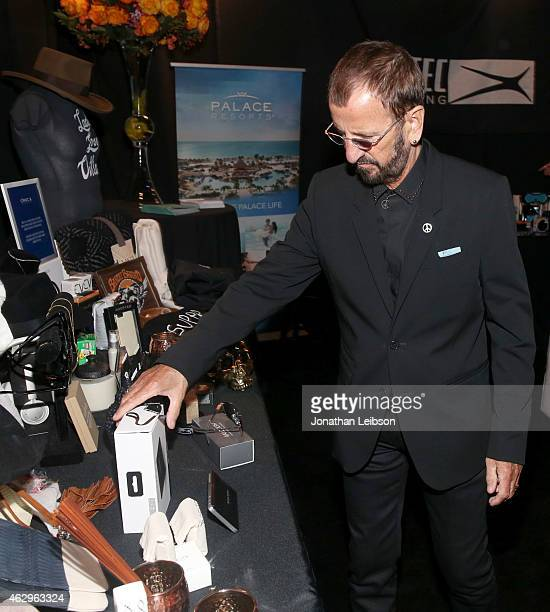 Musician Ringo Starr attends the MusiCares Double Platinum Talent Gift Lounge with Altec Lansing RTA Denim JB Britches and Infinite Love at MusiCares...