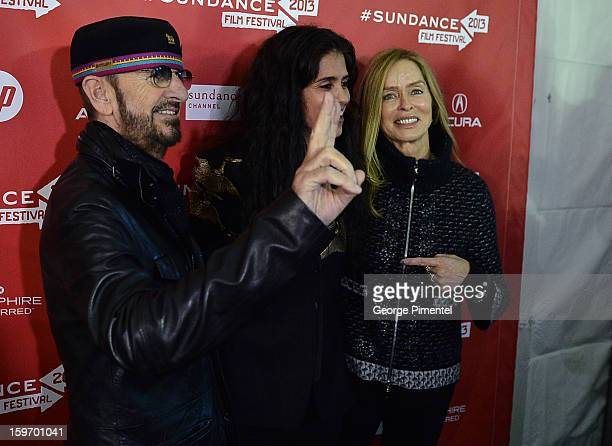 Musician Ringo Starr director Francesca Gregorini and actress Barbara Bach attend the 'Emanuel and The Truth About Fishes' Premiere during the 2013...
