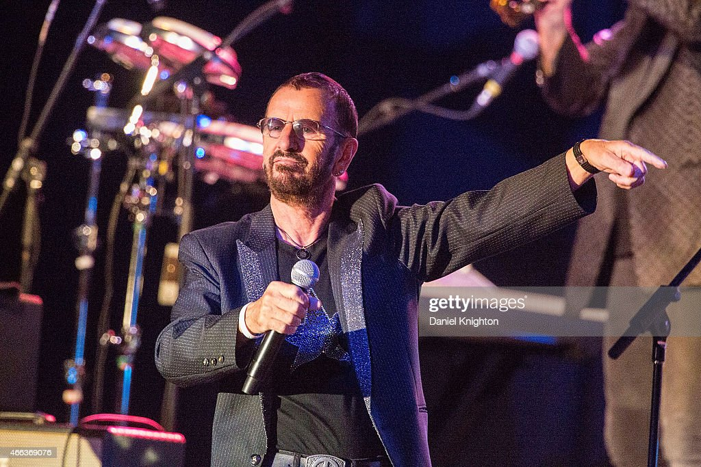 Musician Ringo Starr performs on stage with Ringo Starr & His All-Starr Band at Pala Casino on March 14, 2015 in Pala, California.