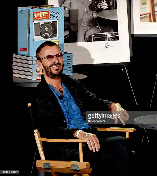Musician Ringo Starr speaks on stage about his book PHOTOGRAPH on September 25 2015 in Los Angeles California