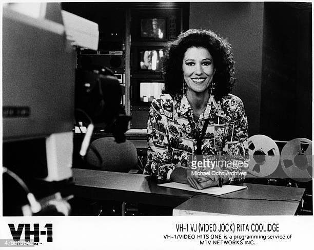 Musician Rita Coolidge for a VH1 publicity portrait in circa 1985