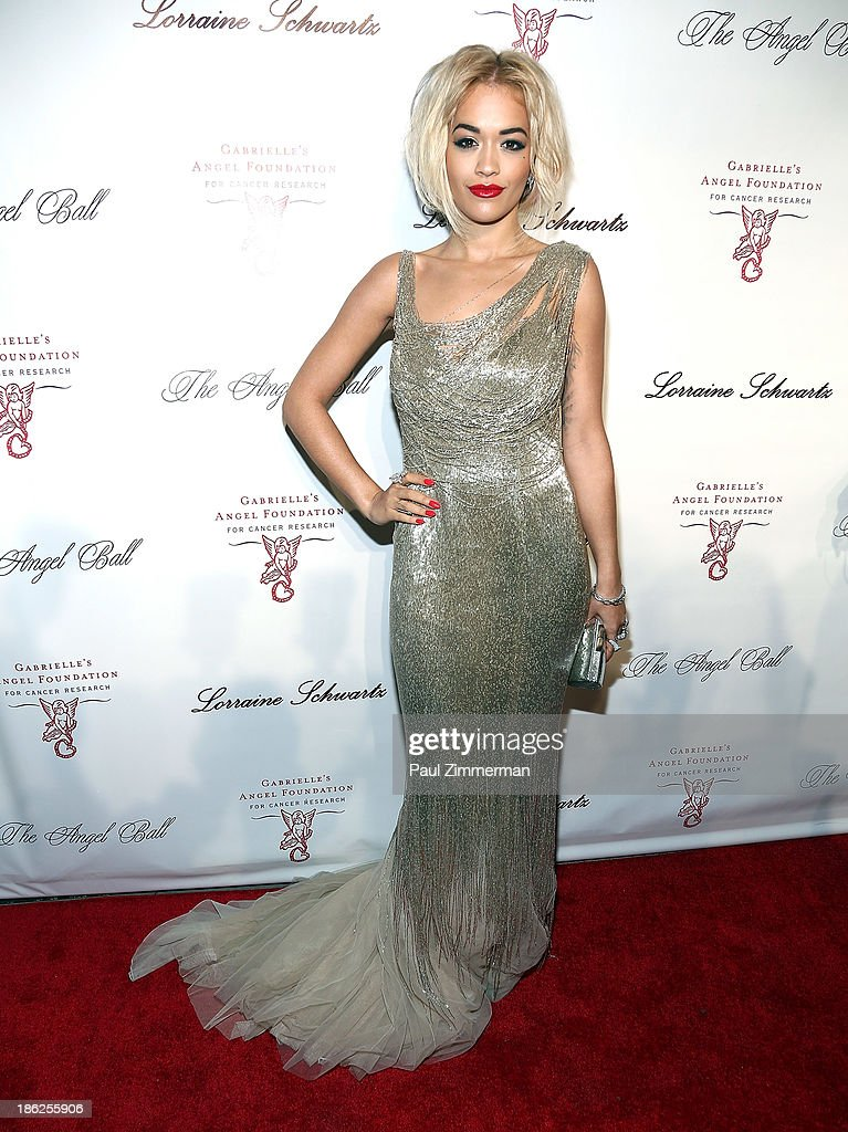 Musician <a gi-track='captionPersonalityLinkClicked' href=/galleries/search?phrase=Rita+Ora&family=editorial&specificpeople=5686485 ng-click='$event.stopPropagation()'>Rita Ora</a> attends Angel Ball 2013 at Cipriani Wall Street on October 29, 2013 in New York City.