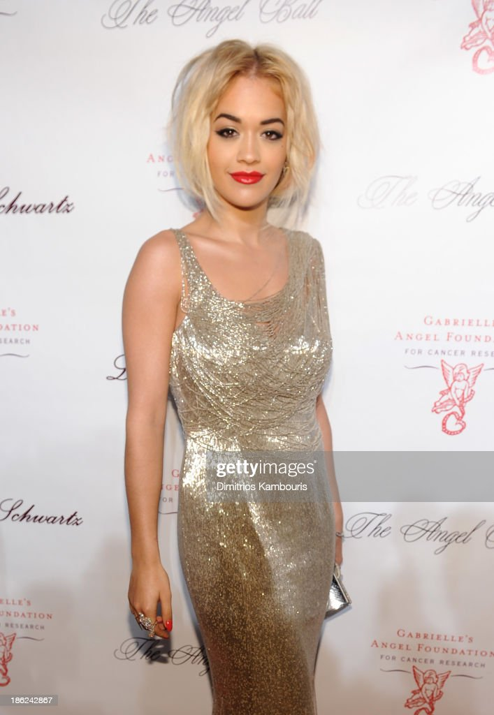 Musician Rita Ora attends Gabrielle's Angel Foundation Hosts Angel Ball 2013 at Cipriani Wall Street on October 29, 2013 in New York City.