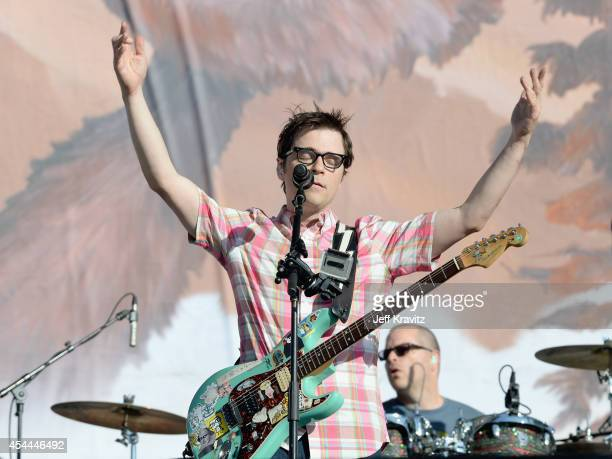 Musician Rivers Cuomo of Weezer performs on the Marilyn Stage during day 2 of the 2014 Budweiser Made in America Festival at Los Angeles Grand Park...