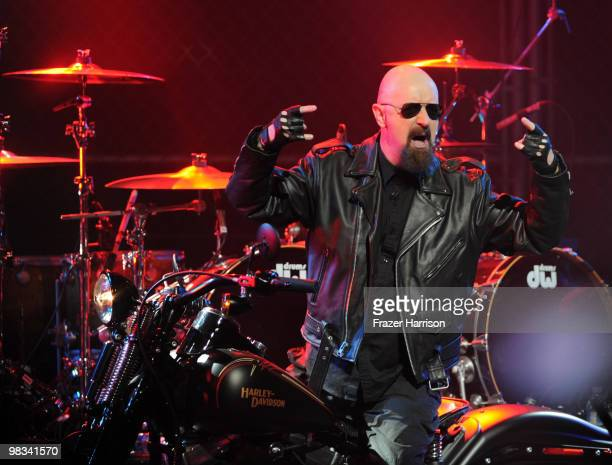Musician Rob Halford on stage 2nd annual Revolver Golden Gods Awards held at Club Nokia on April 8 2010 in Los Angeles California on April 8 2010 in...
