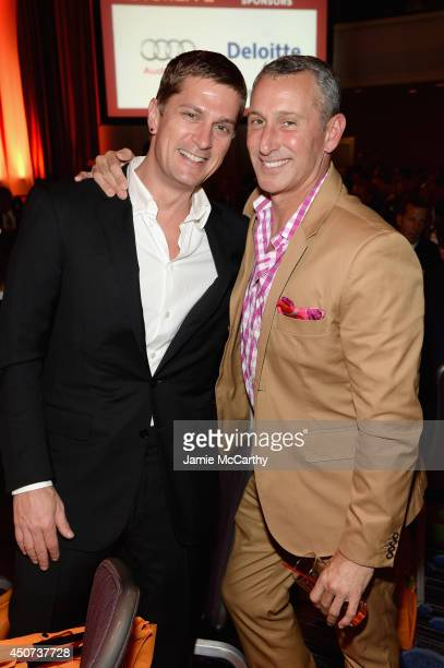 Musician Rob Thomas and filmmaker Adam Shankman attend the Trevor Project's 2014 'TrevorLIVE NY' Event at the Marriott Marquis Hotel on June 16 2014...