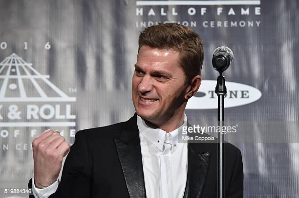 Musician Rob Thomas speaks at the 31st Annual Rock And Roll Hall Of Fame Induction Ceremony at Barclays Center on April 8 2016 in New York City