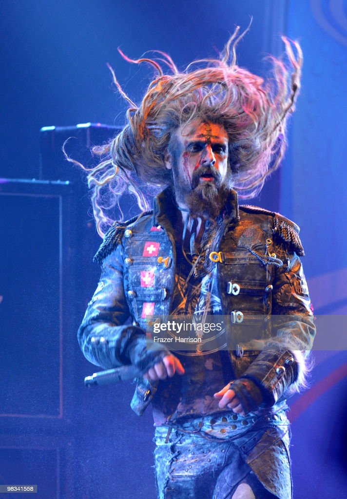Musician Rob Zombie performs at 2nd annual Revolver Golden Gods Awards held at Club Nokia on April 8 2010 in Los Angeles California on April 8 2010...