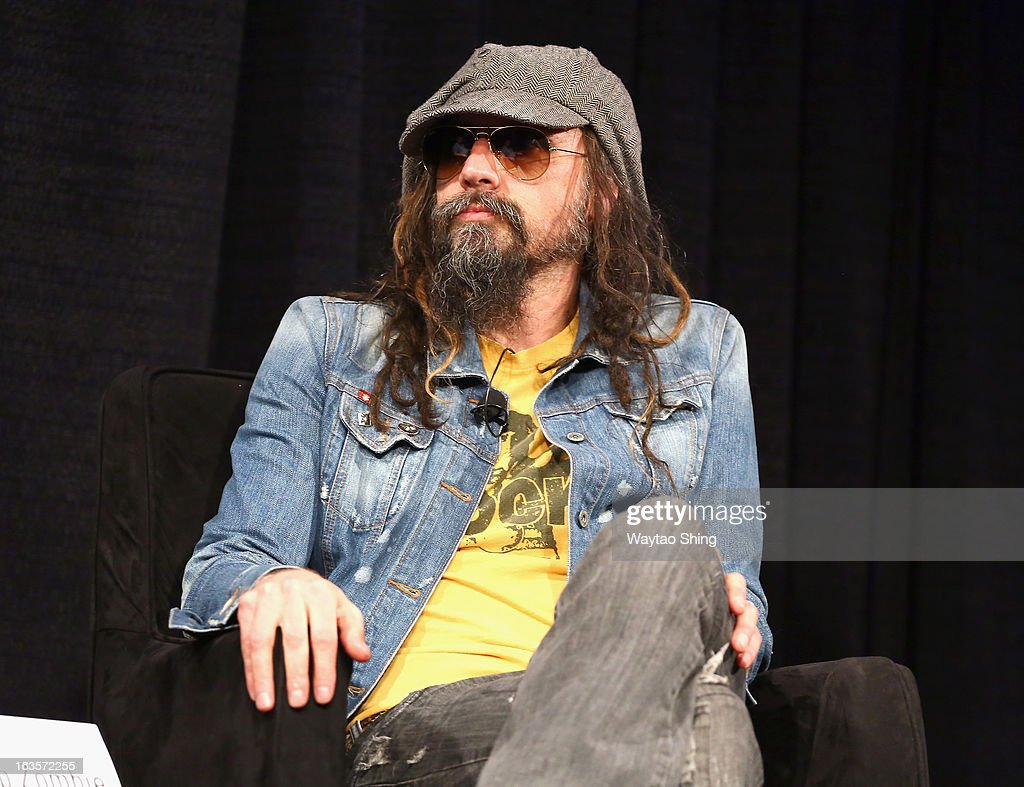 Musician <a gi-track='captionPersonalityLinkClicked' href=/galleries/search?phrase=Rob+Zombie&family=editorial&specificpeople=217722 ng-click='$event.stopPropagation()'>Rob Zombie</a> speaks onstage at A Conversation With <a gi-track='captionPersonalityLinkClicked' href=/galleries/search?phrase=Rob+Zombie&family=editorial&specificpeople=217722 ng-click='$event.stopPropagation()'>Rob Zombie</a> Panel during the 2013 SXSW Music, Film + Interactive Festival at Austin Convention Center on March 12, 2013 in Austin, Texas.