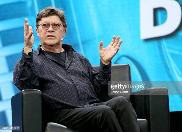 Musician Robbie Robertson speaks onstage during the 2017 NAMM Show Opening Day at Anaheim Convention Center on January 19 2017 in Anaheim California