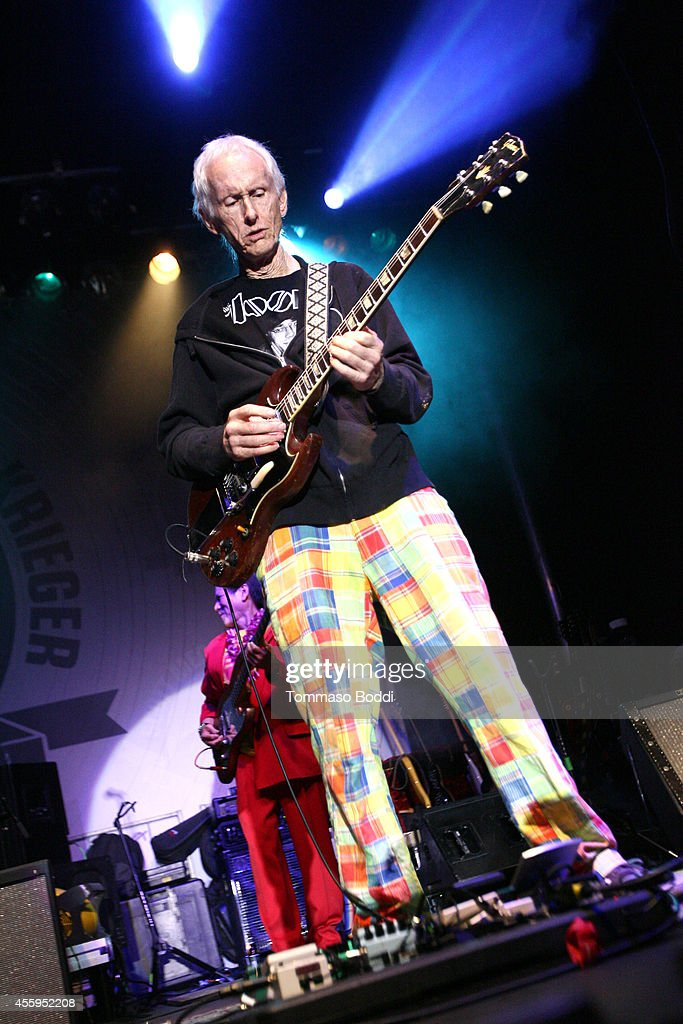 Musician Robby Krieger performs at the 7th annual Scott Medlock-Robby Krieger Invitational & All-Star Concert benefiting St. Jude held at Moorpark Country Club on September 22, 2014 in Moorpark, California.