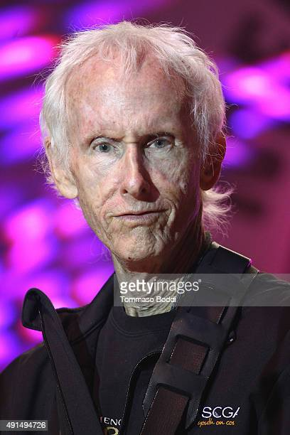 Musician Robby Krieger performs on stage during the Medlock Krieger Celebrity Golf Invitational 2015 All Star Concert held at Moorpark Country Club...
