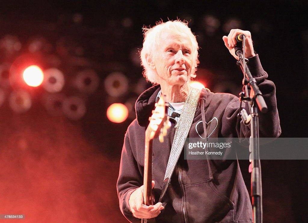 Musician Robby Krieger performs onstage at the USPS Hendrix Stamp Event + Los Lonely Boys during the 2014 SXSW Music, Film + Interactive at Butler Park on March 13, 2014 in Austin, Texas.