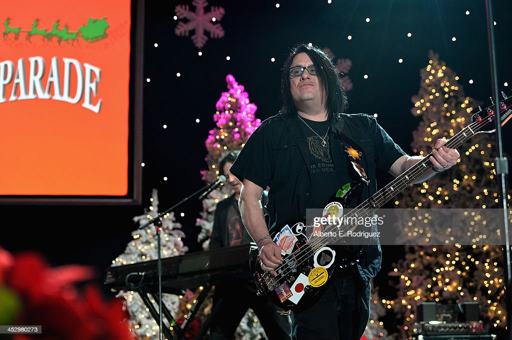 Musician Robby Takac of the Goo Goo Dolls performs at the 82nd Annual Hollywood Christmas Parade on December 1, 2013 in Hollywood, California.