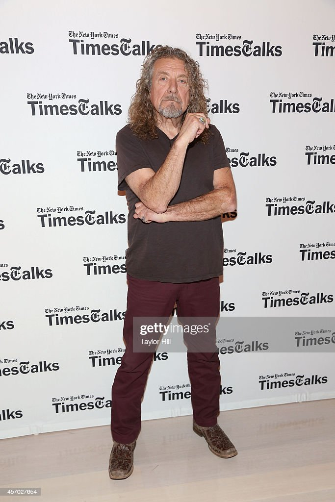 Musician Robert Plant attends 'TimesTalks Presents An Evening With Robert Plant' at Times Center on October 10 2014 in New York City