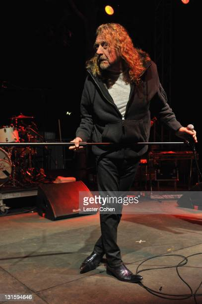 Musician Robert Plant performs at the Rock for Teens event benefiting the Daltrey/Townshend Teen and Young Adult Cancer Program at UCLA on November 5...