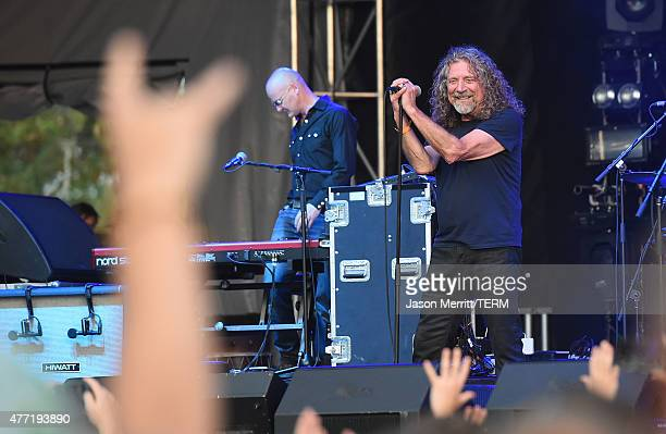 Musician Robert Plant The Sensational Space Shifters perform onstage at Which Stage during Day 4 of the 2015 Bonnaroo Music And Arts Festival on June...