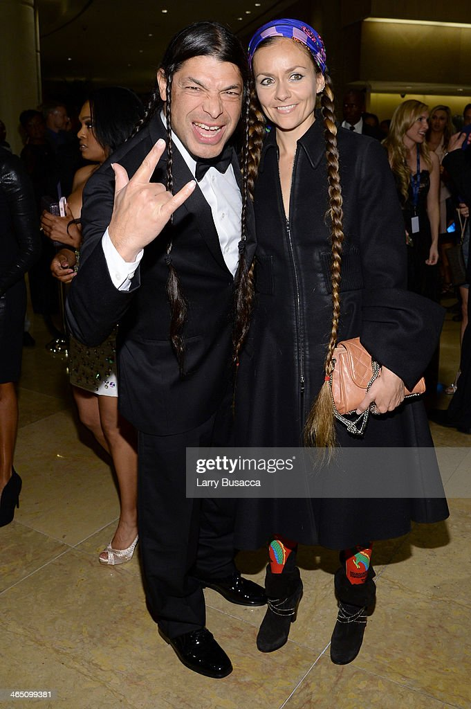 Musician Robert Trujillo and Chloe Trujillo attend the 56th annual GRAMMY Awards Pre-GRAMMY Gala and Salute to Industry Icons honoring Lucian Grainge at The Beverly Hilton on January 25, 2014 in Beverly Hills, California.