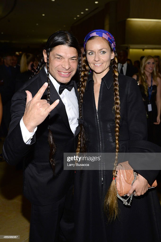 Musician <a gi-track='captionPersonalityLinkClicked' href=/galleries/search?phrase=Robert+Trujillo&family=editorial&specificpeople=213071 ng-click='$event.stopPropagation()'>Robert Trujillo</a> and Chloe Trujillo attend the 56th annual GRAMMY Awards Pre-GRAMMY Gala and Salute to Industry Icons honoring Lucian Grainge at The Beverly Hilton on January 25, 2014 in Beverly Hills, California.