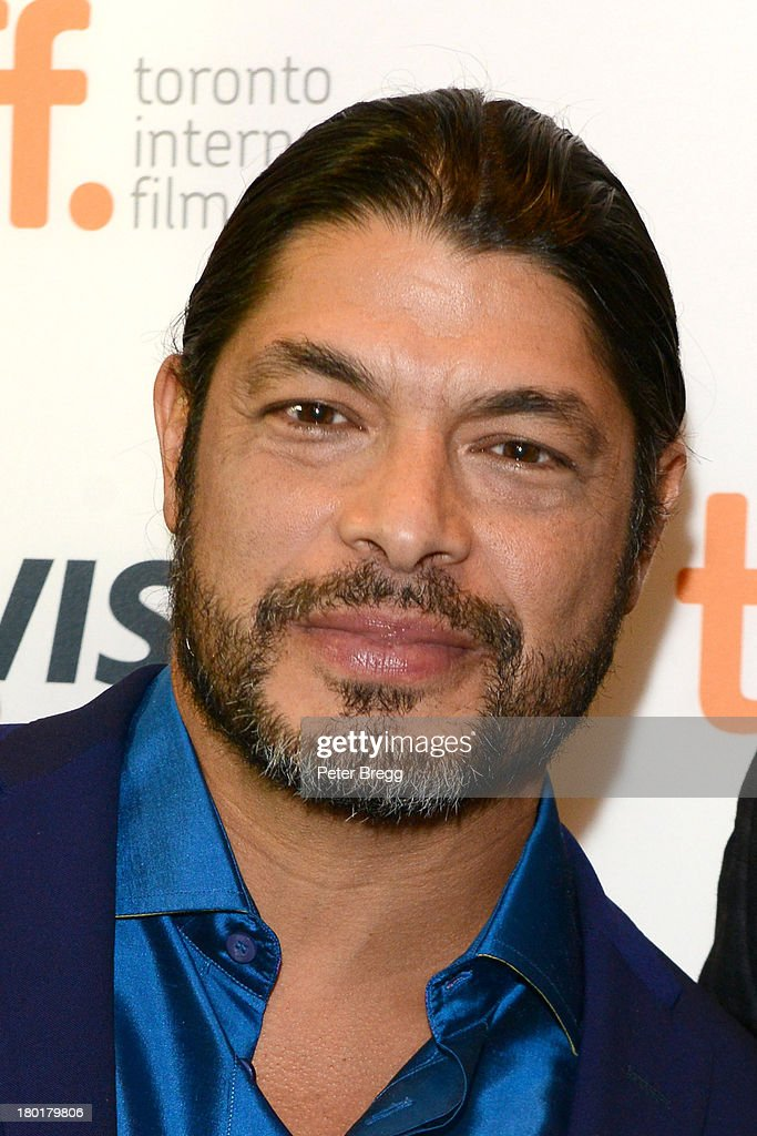 Musician <a gi-track='captionPersonalityLinkClicked' href=/galleries/search?phrase=Robert+Trujillo&family=editorial&specificpeople=213071 ng-click='$event.stopPropagation()'>Robert Trujillo</a> arrives at the 'Metallica: Through The Never' Premiere during 2013 Toronto International Film Festival at Scotiabank Theatre on September 9, 2013 in Toronto, Canada.