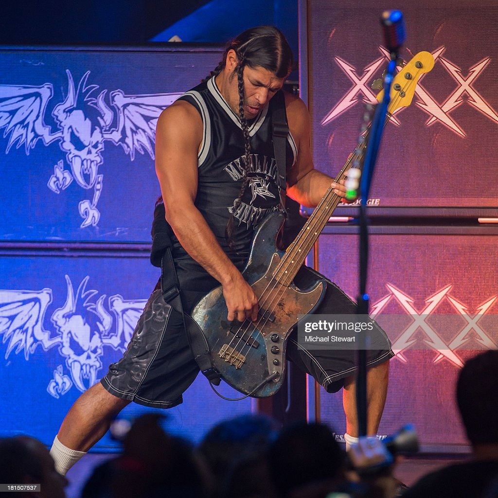 Musician <a gi-track='captionPersonalityLinkClicked' href=/galleries/search?phrase=Robert+Trujillo&family=editorial&specificpeople=213071 ng-click='$event.stopPropagation()'>Robert Trujillo</a> of Metallica performs at a private exclusive concert for SiriusXM listeners at The Apollo Theater on September 21, 2013 in New York City.