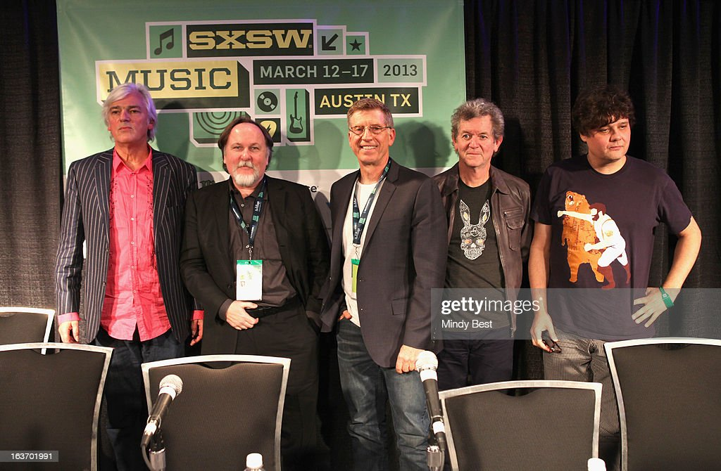 Musician Robyn Hitchcock, author Bill Flanagan, Director of The Grammy Museum Bob Santelli, musician Rodney Crowell and singer-songwriter Ron Sexsmith at 50 Years of the Beatles during the 2013 SXSW Music, Film + Interactive Festival at Austin Convention Center on March 14, 2013 in Austin, Texas.