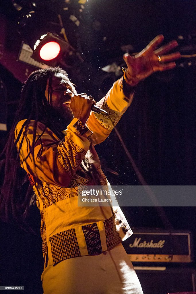 Musician Rocky Dawuni performs with Mexican Dubwiser at Viper Room on May 10, 2013 in West Hollywood, California.