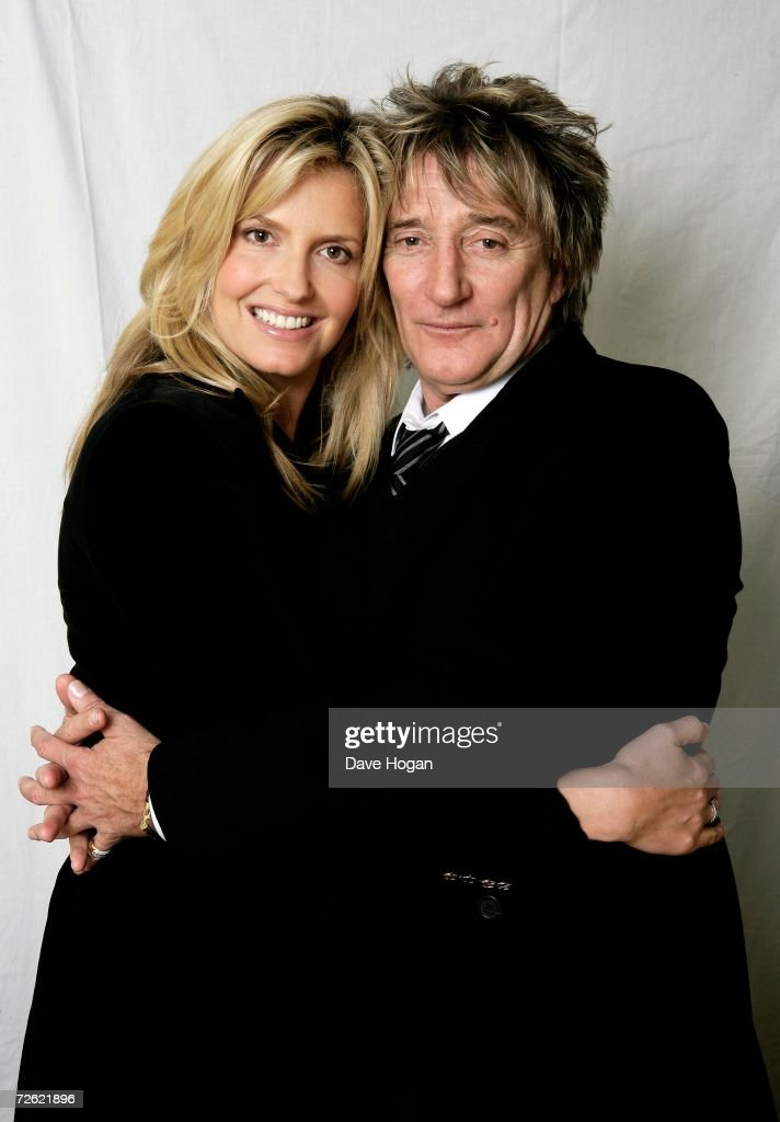 Musician Rod Stewart and his partner Penny Lancaster pose for a portrait at Langham Hotel on October 31, 2006 in London, England. Rod's new album ' Still the same...Great Rock Classics of our Time' is out now.