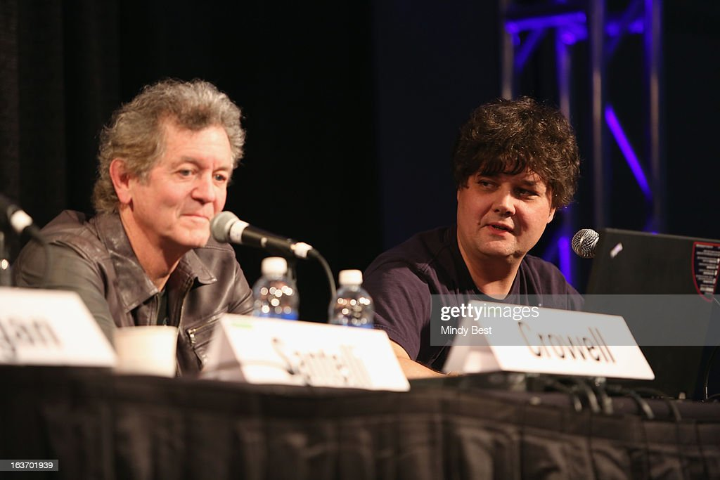 Musician Rodney Crowell and singer-songwriter Ron Sexsmith speak onstage at 50 Years of the Beatles during the 2013 SXSW Music, Film + Interactive Festival at Austin Convention Center on March 14, 2013 in Austin, Texas.