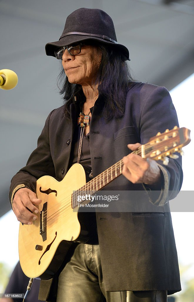 Musician Rodriguez performs as part of the 2013 Coachella Valley Music & Arts Festival at the Empire Polo Field on April 21, 2013 in Indio, California.