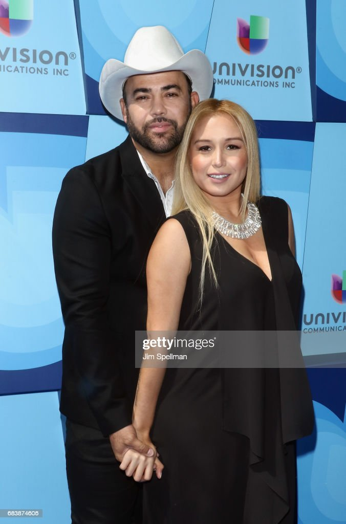Musician Rogelio Martinez and Lisa Marie Martinez attend Univision's 2017 Upfront at the Lyric Theatre on May 16, 2017 in New York City.