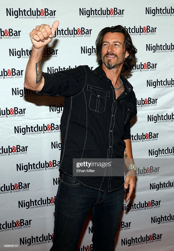 Musician Roger Clyne arrives at the 29th annual Nightclub & Bar Convention and Trade Show at the Las Vegas Convention Center on March 25, 2014 in Las Vegas, Nevada.