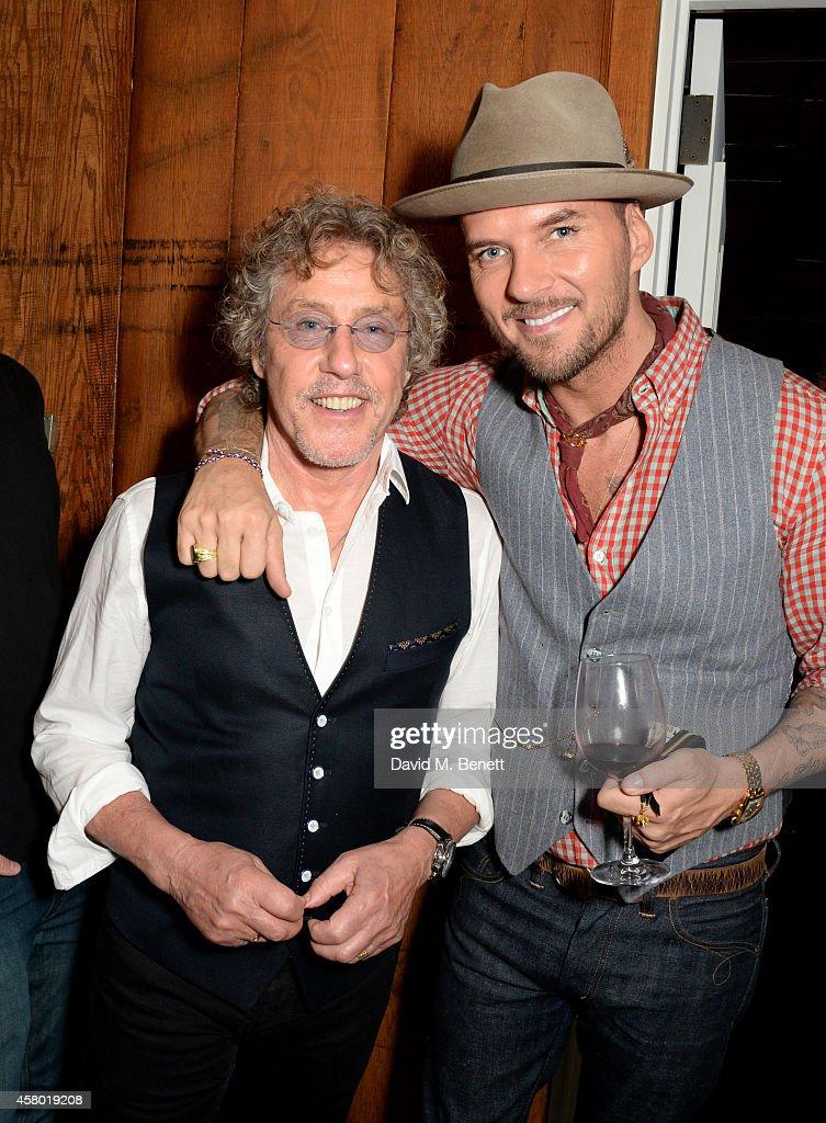 Musician Roger Daltrey and singer Matt Goss attend the Teen Cancer America Fundraiser hosted by Darren Strowger Roger Daltrey and Rebecca Rothstein...