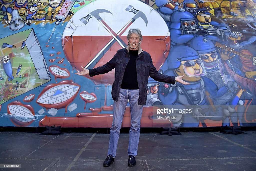 """In celebration Of The Release Of The Limited Edition Box Set Of The Film """"Roger Waters The Wall"""", Roger Waters Hosts Los Angeles Event For Brazilian Artists Osgemeos' Interpretation Of """"The Wall"""""""