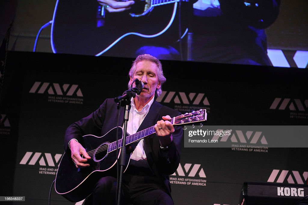 Musician <a gi-track='captionPersonalityLinkClicked' href=/galleries/search?phrase=Roger+Waters&family=editorial&specificpeople=233732 ng-click='$event.stopPropagation()'>Roger Waters</a> performs at IAVA's Sixth Annual Heroes Gala at Cipriani 42nd Street on November 13, 2012 in New York City.