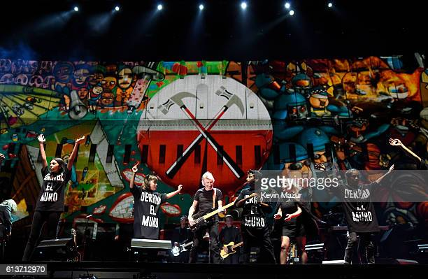 Musician Roger Waters performs during Desert Trip at The Empire Polo Club on October 9 2016 in Indio California