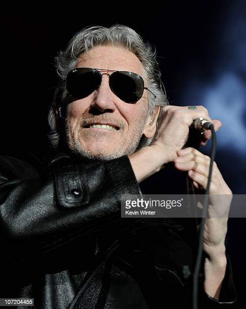 Musician Roger Waters performs 'The Wall' at the Staples Center on November 29 2010 in Los Angeles California