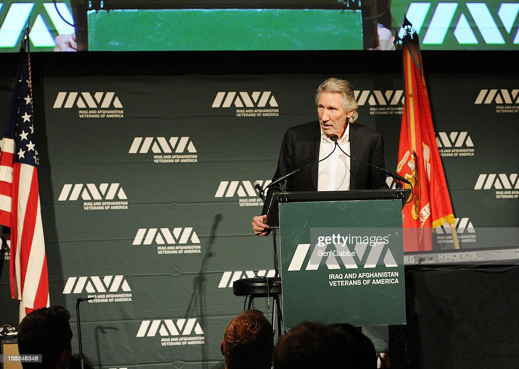 Musician <a gi-track='captionPersonalityLinkClicked' href=/galleries/search?phrase=Roger+Waters&family=editorial&specificpeople=233732 ng-click='$event.stopPropagation()'>Roger Waters</a> speaks at IAVA's Sixth Annual Heroes Gala at Cipriani 42nd Street on November 13, 2012 in New York City.