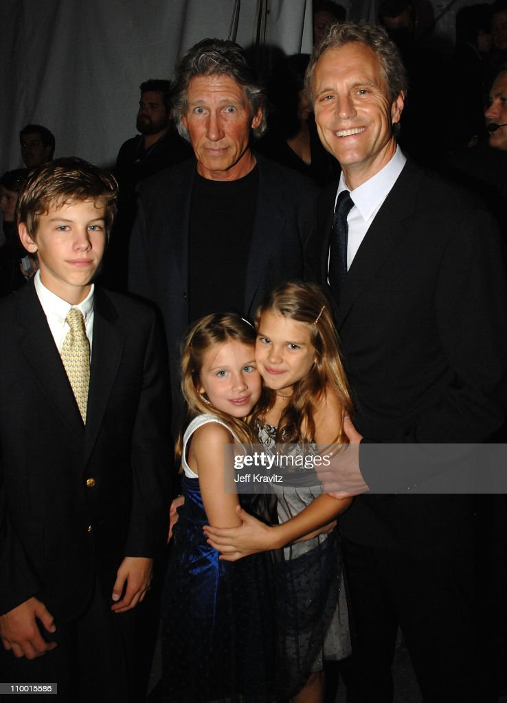 Musician Roger Waters with Save the Music founder John Sykes and family arrive at VH1's Save The Music 10th Anniversary Gala at The Tent at Lincoln...