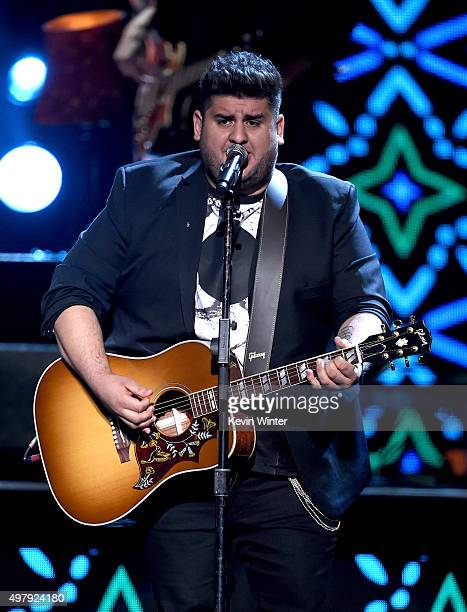 Musician Roman Torres of Matisse performs onstage during the 16th Latin GRAMMY Awards at the MGM Grand Garden Arena on November 19 2015 in Las Vegas...