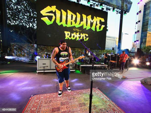 Musician Rome Ramirez of Sublime with Rome performs on the Dylan Stage during day 1 of the 2014 Budweiser Made in America Festival at Los Angeles...