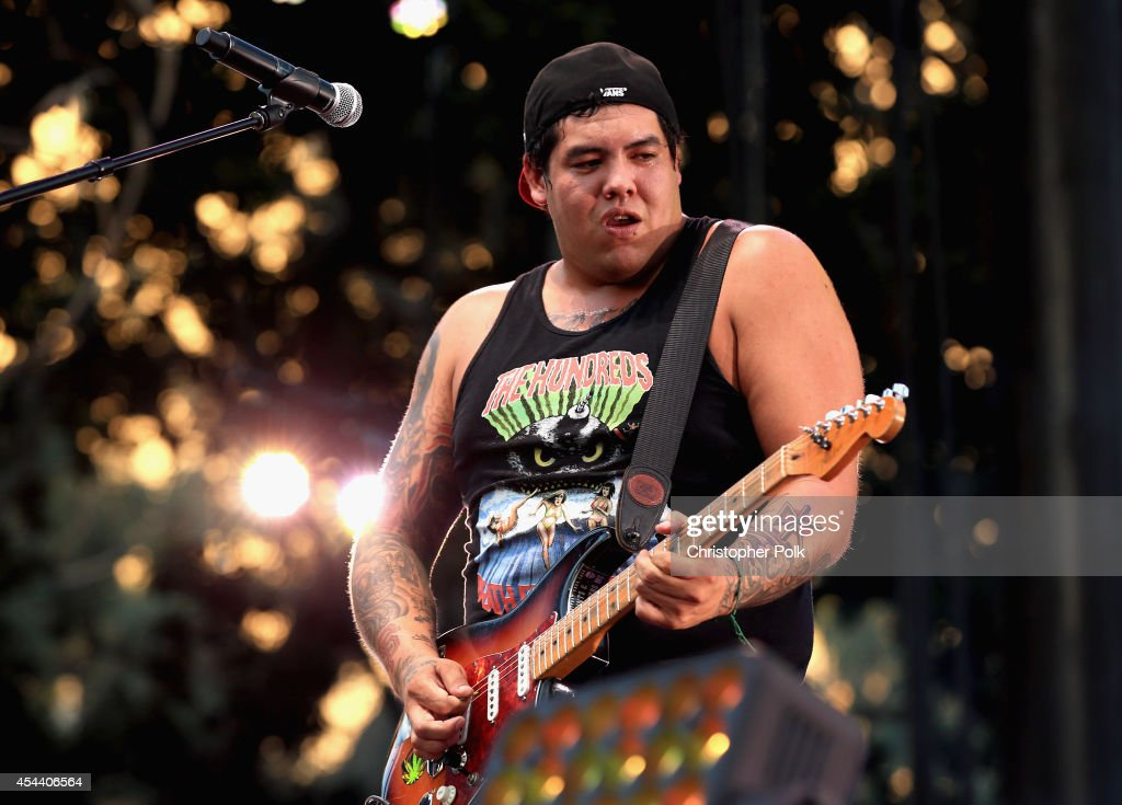 Musician <a gi-track='captionPersonalityLinkClicked' href=/galleries/search?phrase=Rome+Ramirez&family=editorial&specificpeople=6394773 ng-click='$event.stopPropagation()'>Rome Ramirez</a> of Sublime with Rome performs on the Dylan Stage during day 1 of the 2014 Budweiser Made in America Festival at Los Angeles Grand Park on August 30, 2014 in Los Angeles, California.