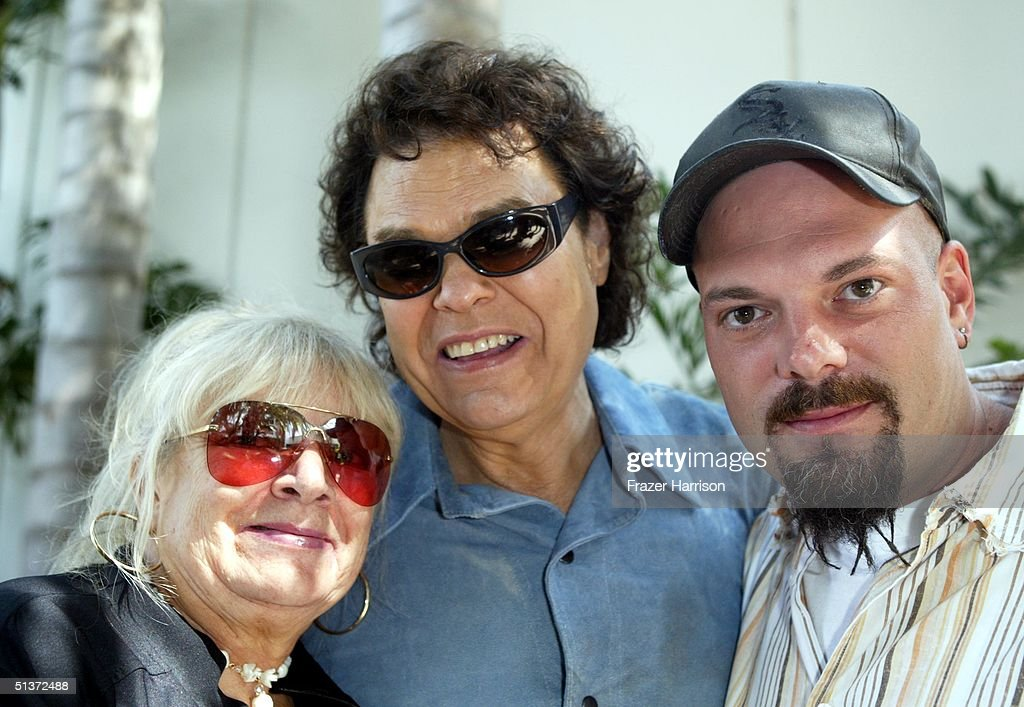 Musician Ronnie Milsap (C) his wife Joyce and son Todd attend rehearsals for the Ray Charles tribute evening held at the Beverly Hilton Hotel September 29, 2004 in Beverly Hills, California.