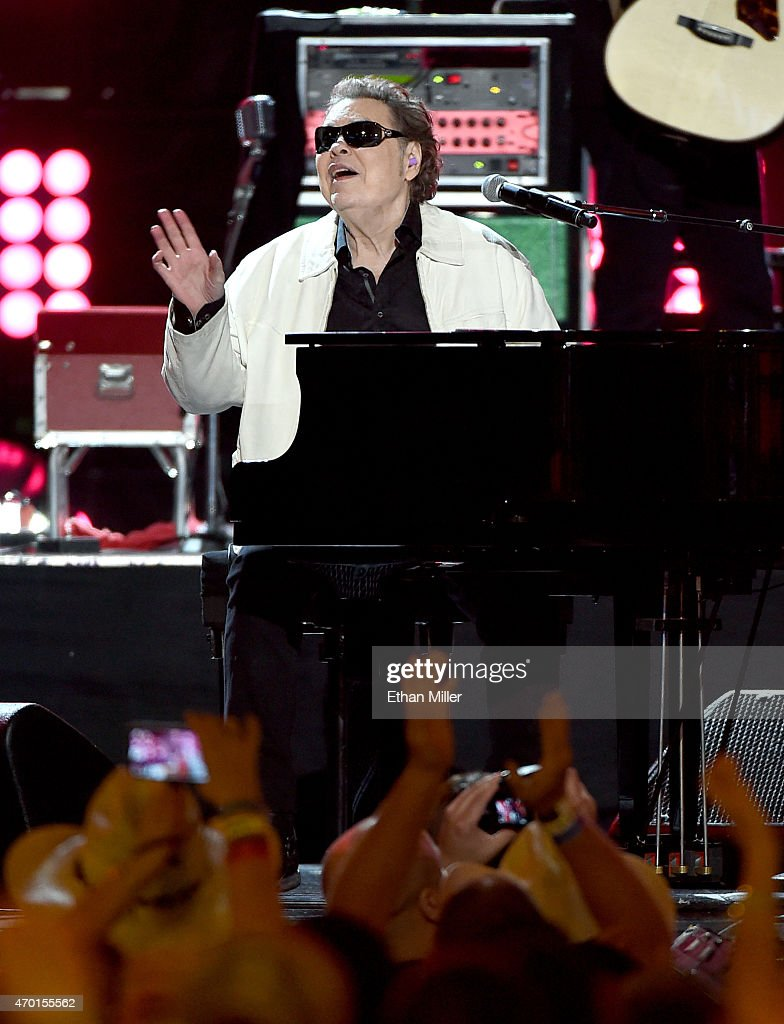 Musician Ronnie Milsap performs onstage during ACM Presents: Superstar Duets at Globe Life Park in Arlington on April 17, 2015 in Arlington, Texas.