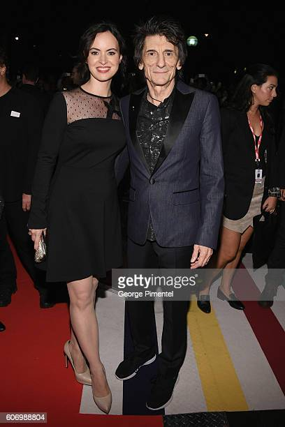 Musician Ronnie Wood and wife Sally Wood attend 'The Roling Stones Ole Ole Ole A Trip Across Latin America' Premiere during the 2016 Toronto...